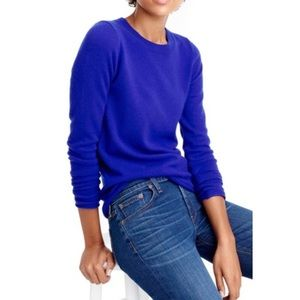 J. Crew Jackie Blue Cotton Blend Pullover Sweater